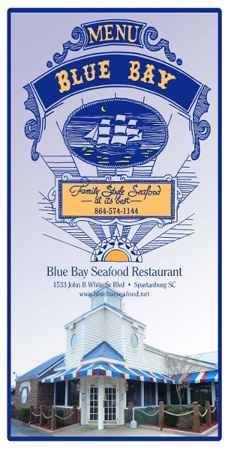 Seafood Restaurant In Spartanburg Sc Blue Bay Menu